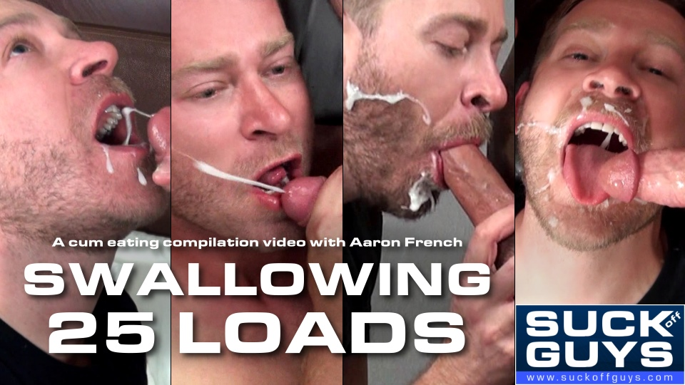 Men swallowing cum compilation